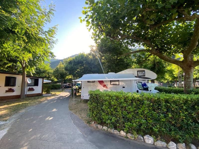 Area sosta camper Deiva Marina - Camping Fornaci al mare - Liguria
